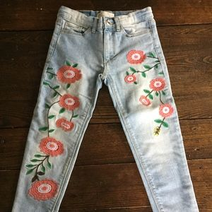 Unworn Zara Girls floral jeans